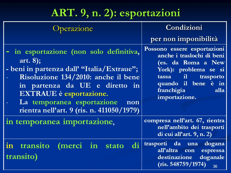 36 ART.9, n.