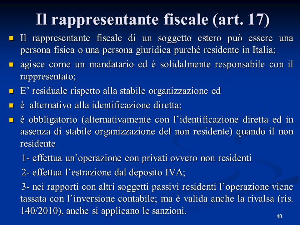 48 Il rappresentante fiscale (art.