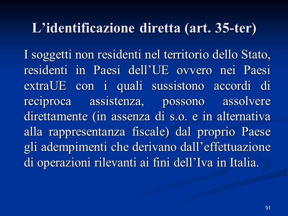 51 Lidentificazione diretta (art.