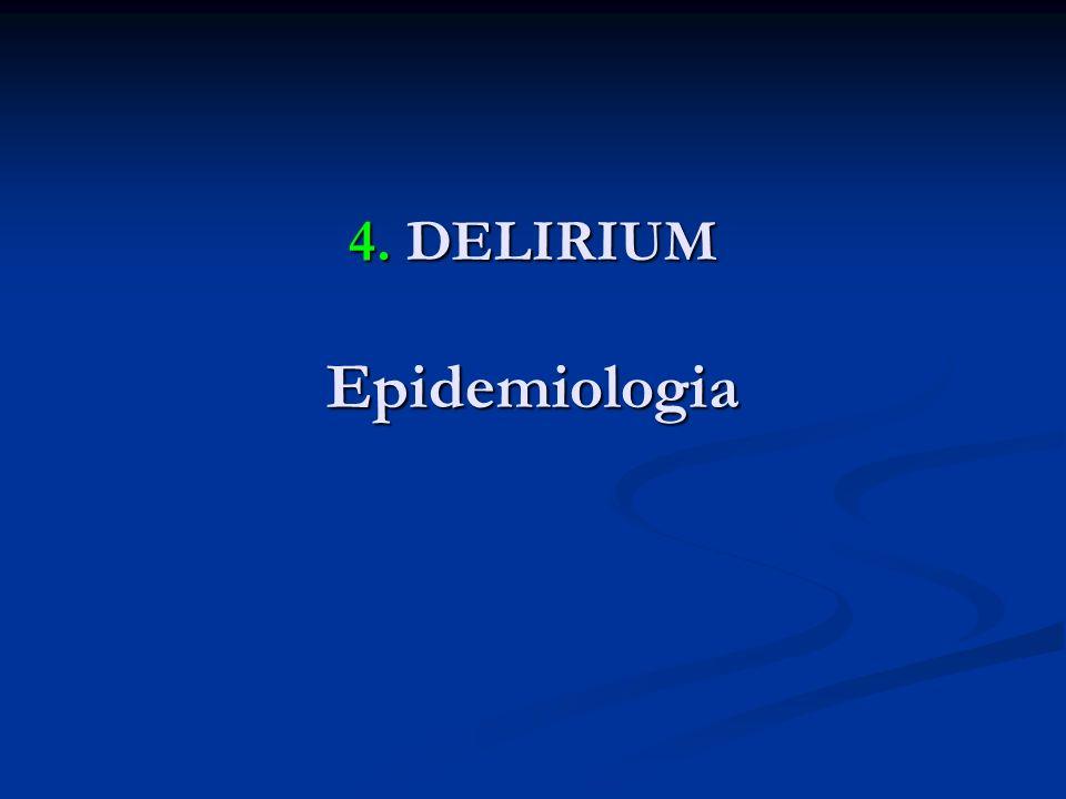 4. DELIRIUM Epidemiologia