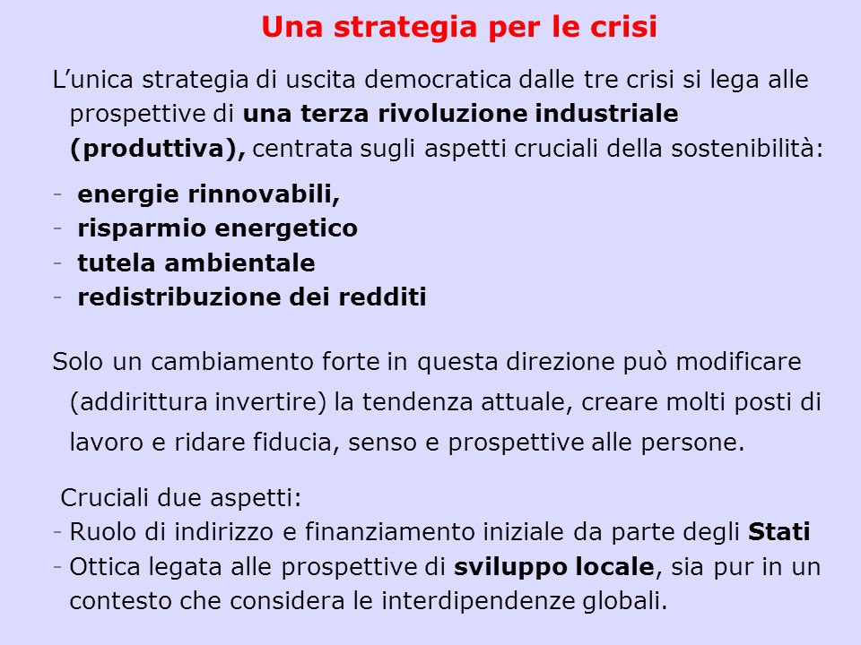 Stern Review. Interventi e sviluppo economico. The world does not need to choose between averting climate change and promoting growth and development.