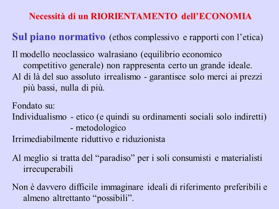 Teoria economica predominante: -