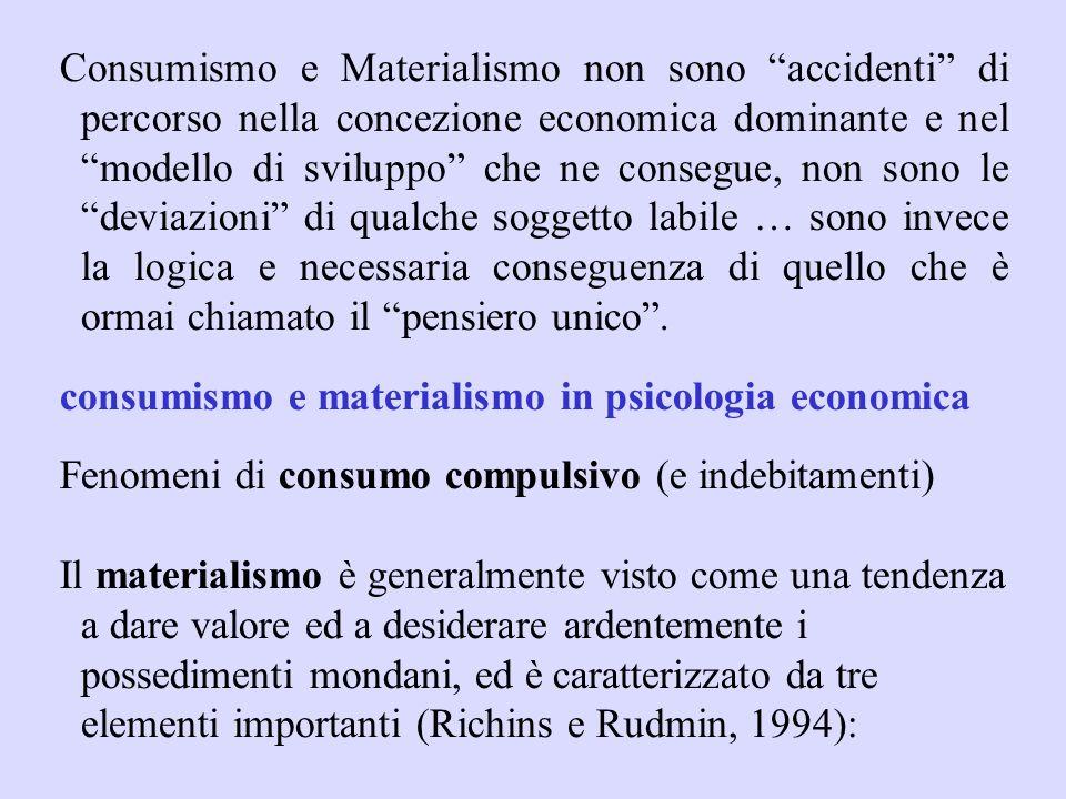 concezione riduttiva della società, vista solo come somma di individui (lo disse chiaramente M. Thatcher) contrapposizione della natura alluomo e ridu
