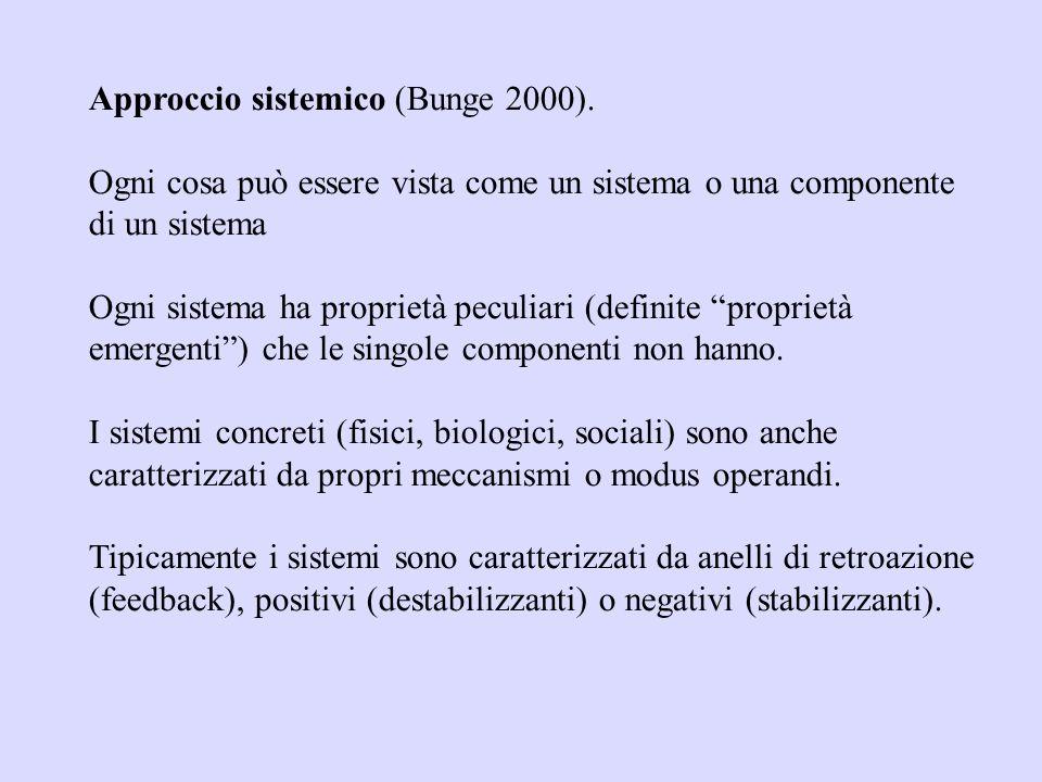 Approccio riduzionista (individualismo metodologico): un sistema viene suddiviso in più sotto- sistemi fino a scomporlo ai minimi termini; le propriet