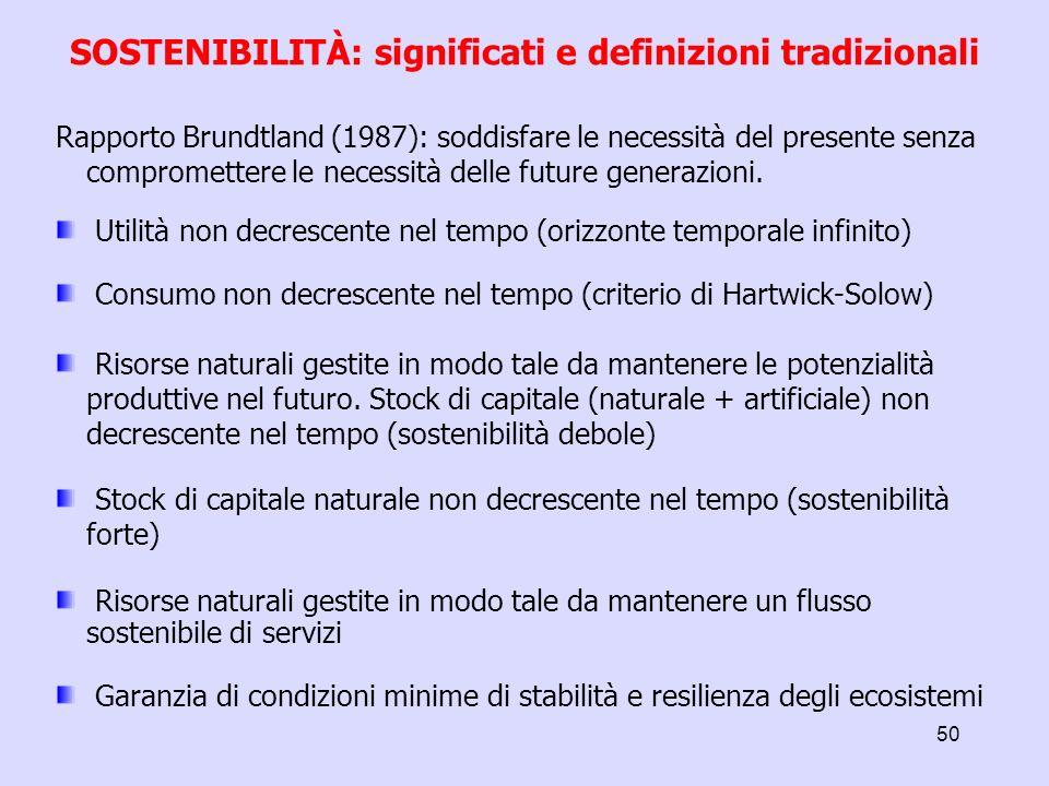 - Definizioni e significati di sostenibilità - Sostituibilità (tra capitale naturale e artificiale) - Sistemi termodinamici aperti e chiusi - La sfida