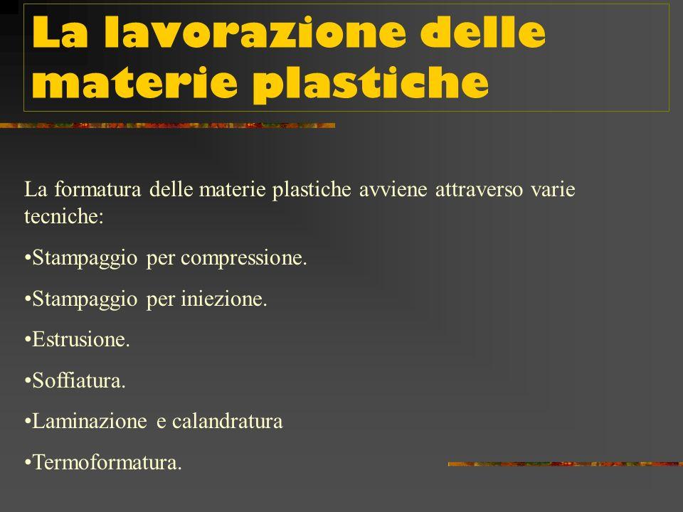 Gli additivi Gli additivi chimici vengono spesso usati nelle materie plastiche per conferire a queste alcune particolari caratteristiche: ad esempio,