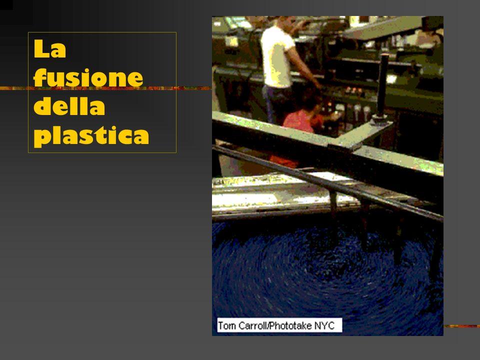 La lavorazione delle materie plastiche La formatura delle materie plastiche avviene attraverso varie tecniche: Stampaggio per compressione. Stampaggio
