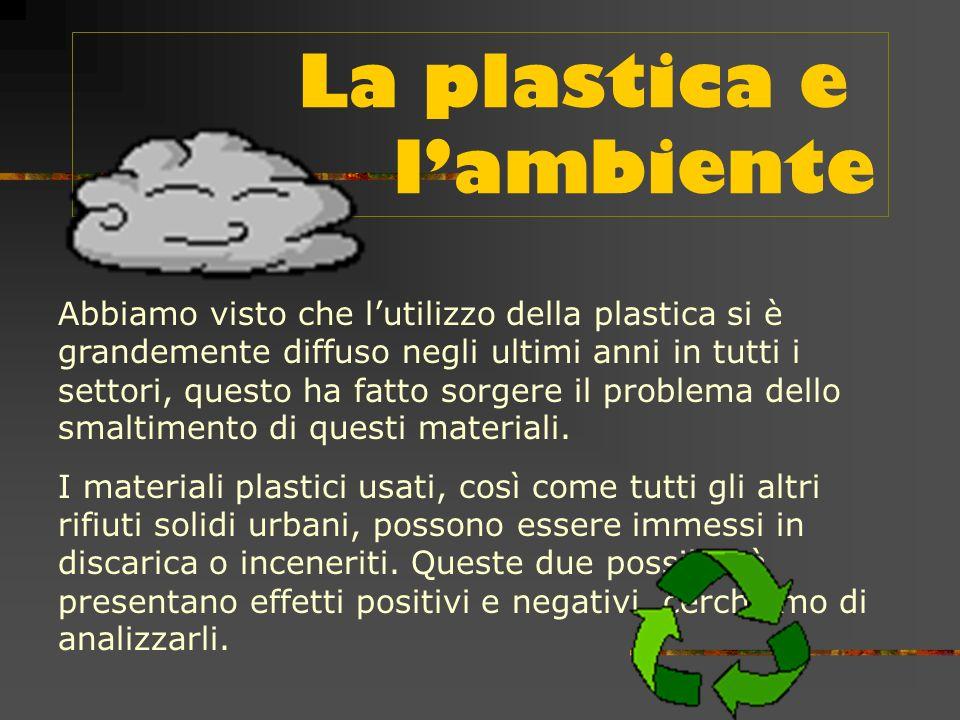 Molte altre industrie ormai dipendono dalle materie plastiche.