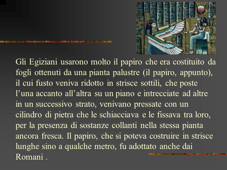 Prima della carta esistevano metodi anchessi ingegnosi, ma limitatamente efficaci per trasmettere gli scritti, quali losso, il corno, la pietra, i met