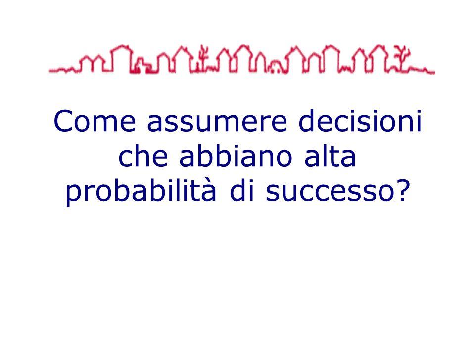 Come assumere decisioni che abbiano alta probabilità di successo