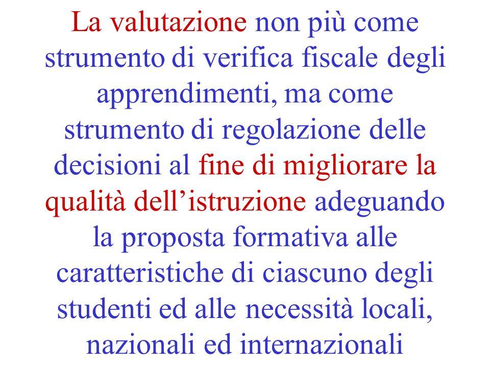 Questioni come 1.La flessibilità della proposta formativa 2.