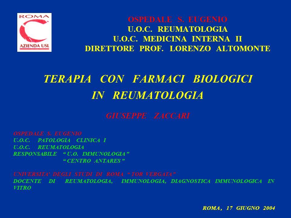 OSPEDALE S.EUGENIO U.O.C. REUMATOLOGIA U.O.C. MEDICINA INTERNA II DIRETTORE PROF.
