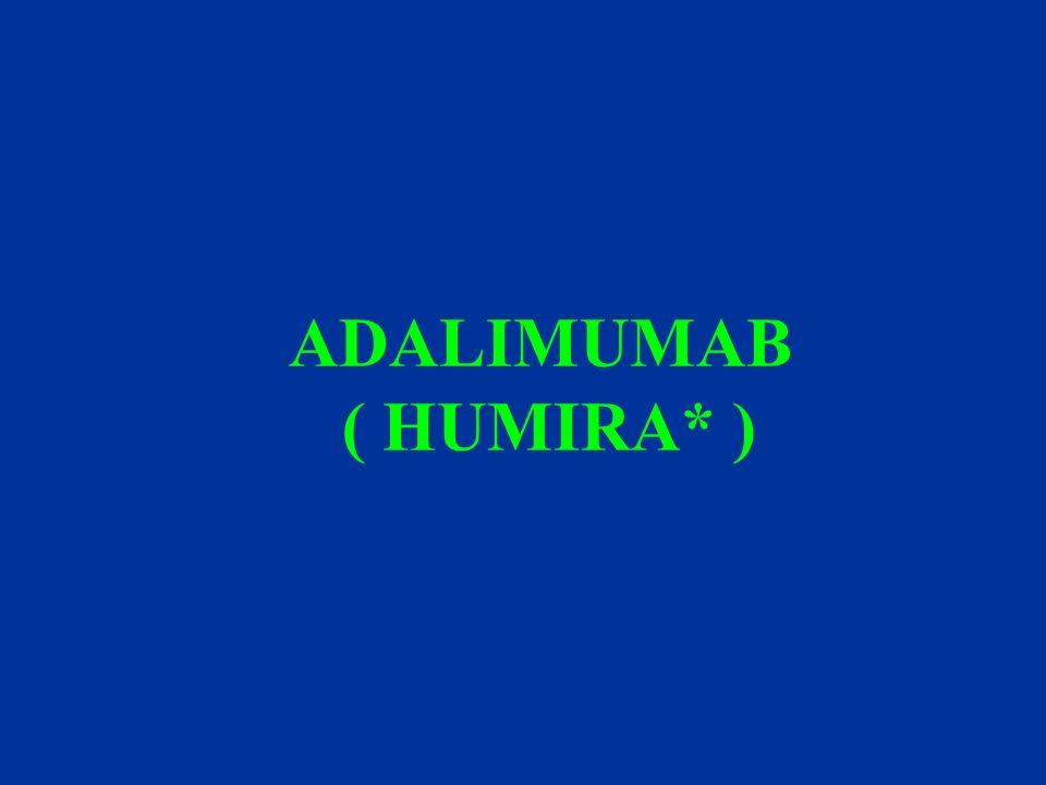 ADALIMUMAB ( HUMIRA* )