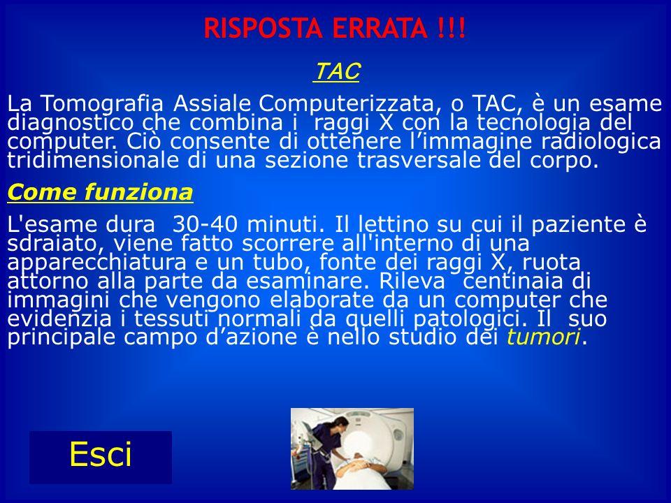 TAC La Tomografia Assiale Computerizzata, o TAC, è un esame diagnostico che combina i raggi X con la tecnologia del computer. Ciò consente di ottenere