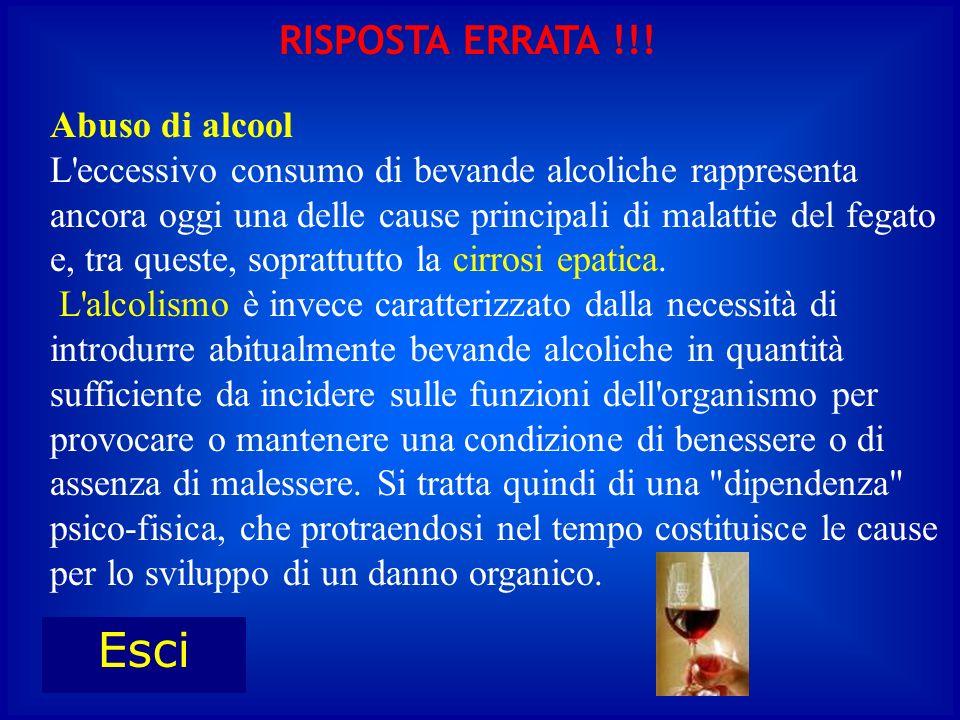 Abuso di alcool L'eccessivo consumo di bevande alcoliche rappresenta ancora oggi una delle cause principali di malattie del fegato e, tra queste, sopr