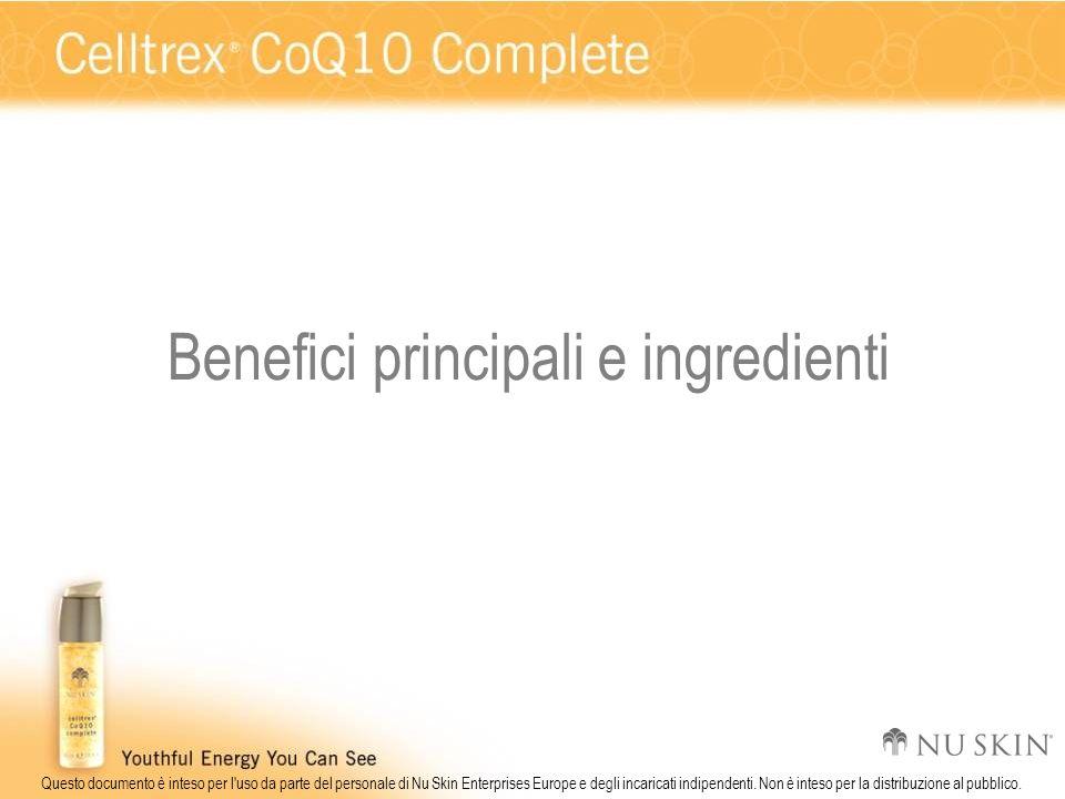 Questo documento è inteso per l'uso da parte del personale di Nu Skin Enterprises Europe e degli incaricati indipendenti. Non è inteso per la distribu