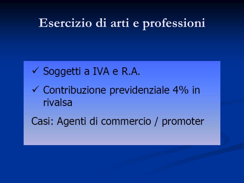Esercizio di arti e professioni