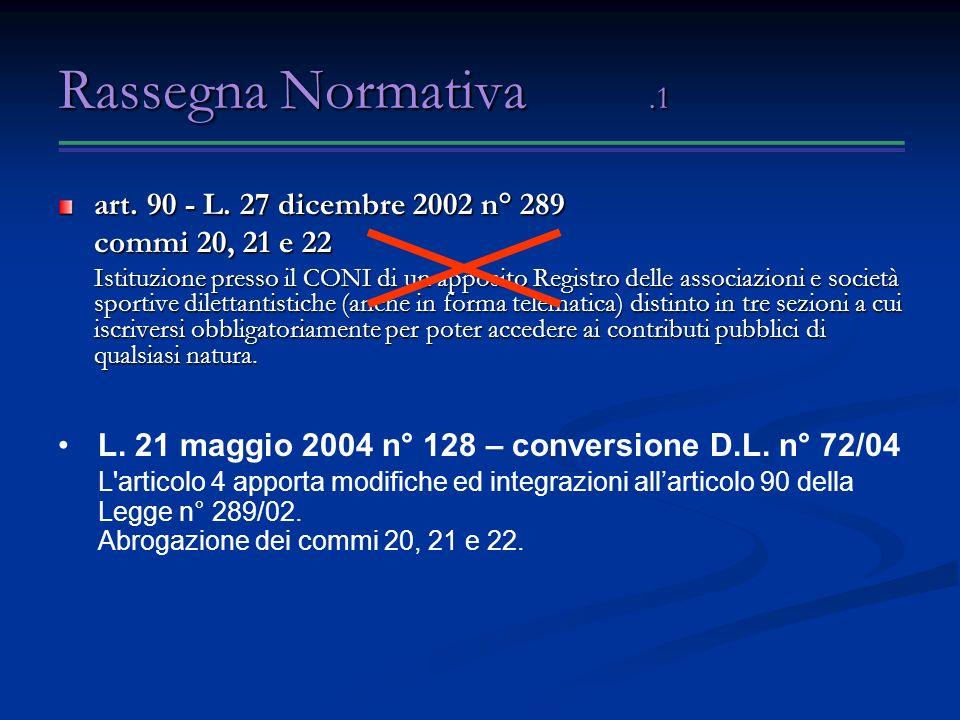 Rassegna Normativa.1 art.90 - L.