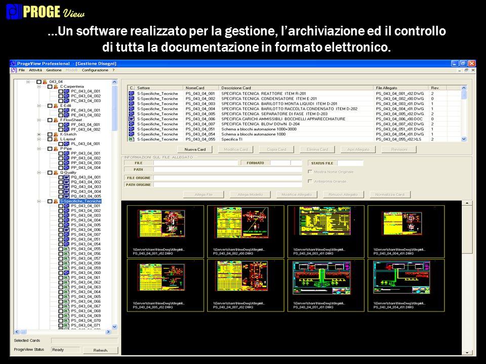 …Un software realizzato per la gestione, larchiviazione ed il controllo di tutta la documentazione in formato elettronico.