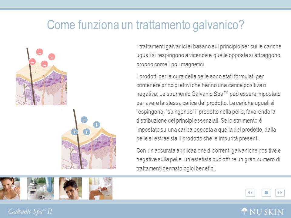 Come funziona un trattamento galvanico? I trattamenti galvanici si basano sul principio per cui le cariche uguali si respingono a vicenda e quelle opp