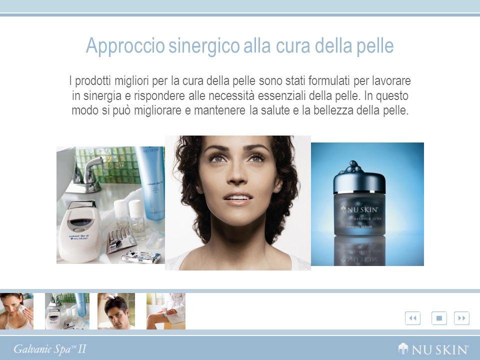 Approccio sinergico alla cura della pelle I prodotti migliori per la cura della pelle sono stati formulati per lavorare in sinergia e rispondere alle