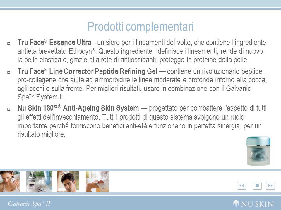 Prodotti complementari Tru Face ® Essence Ultra - un siero per i lineamenti del volto, che contiene l'ingrediente antietà brevettato Ethocyn ®. Questo