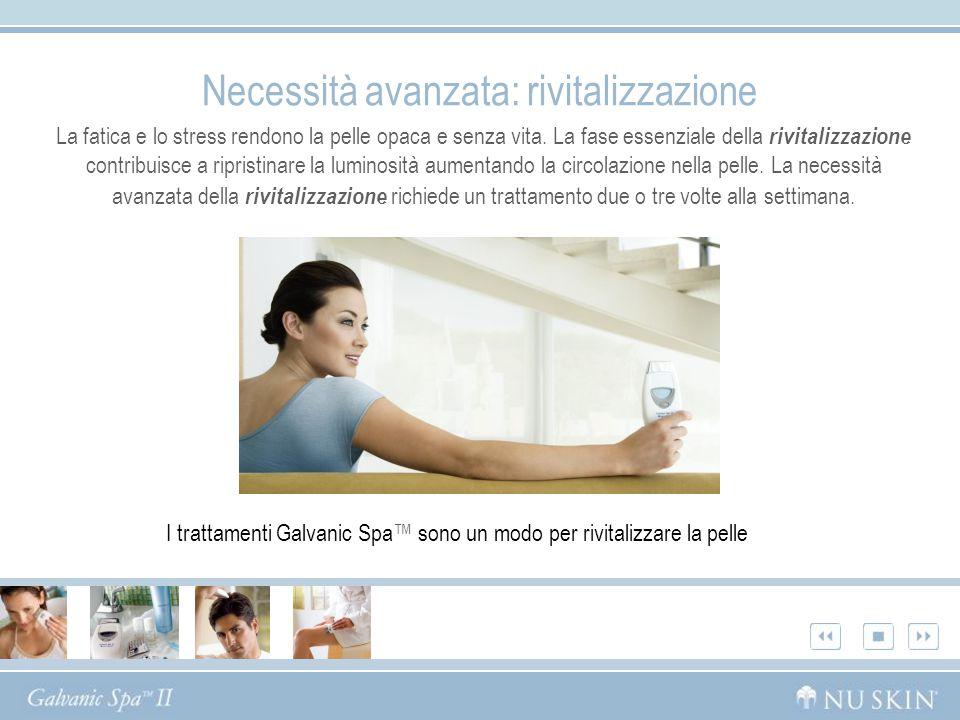 Necessità avanzata: rivitalizzazione La fatica e lo stress rendono la pelle opaca e senza vita. La fase essenziale della rivitalizzazione contribuisce