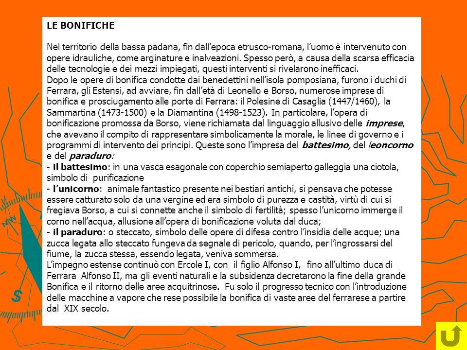 LE BONIFICHE Nel territorio della bassa padana, fin dallepoca etrusco-romana, luomo è intervenuto con opere idrauliche, come arginature e inalveazioni