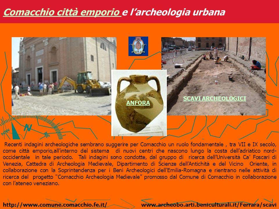 Comacchio città emporio Comacchio città emporio e larcheologia urbana http://www.comune.comacchio.fe.it/ Recenti indagini archeologiche sembrano sugge
