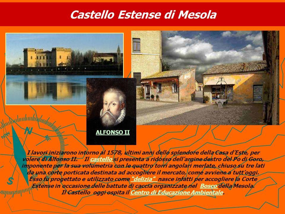 Castello Estense di Mesola I lavori iniziarono intorno al 1578, ultimi anni dello splendore della Casa dEste, per volere di Alfonso II. Il castello si