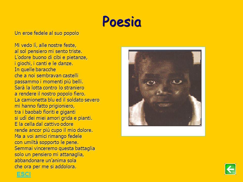 Poesia Un eroe fedele al suo popolo Mi vedo lì, alle nostre feste, al sol pensiero mi sento triste.