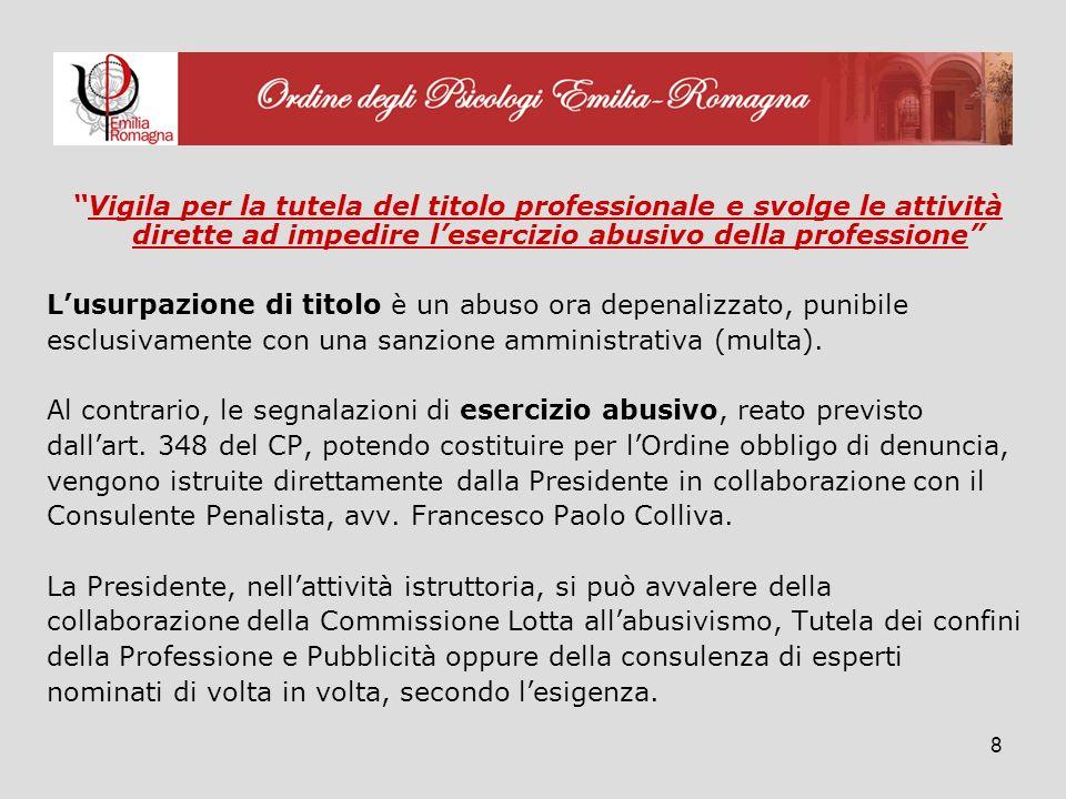 29 5) Gruppo di lavoro sulle Terapie non convenzionali Componenti: Consiglieri Obiettivi: analisi della Legge Regionale nr.