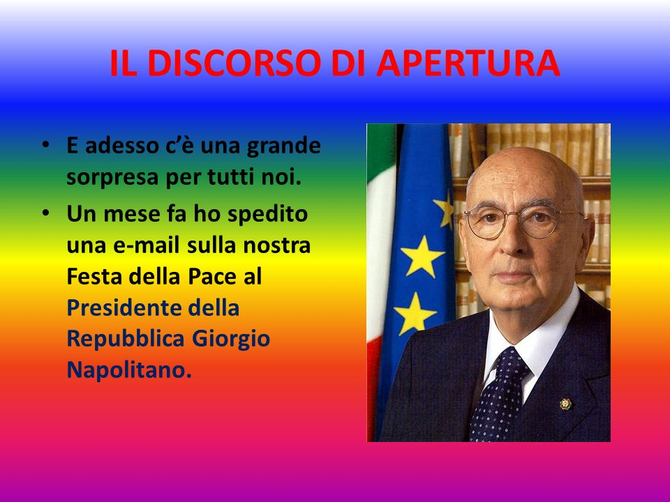 IL DISCORSO DI APERTURA Il nostro Istituto da alcuni anni è associato a Libera, lassociazione fondata da Don Luigi Ciotti contro tutte le mafie e alcu