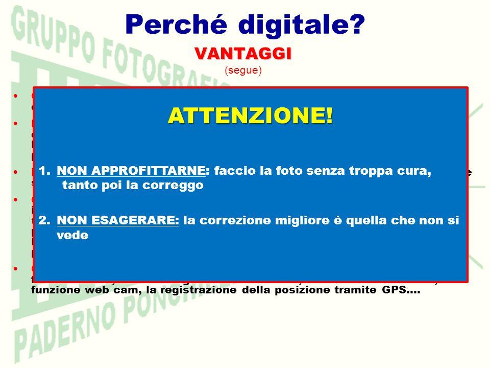 Perché digitale?VANTAGGI (segue) CONDIVISIBILITÀ:CONDIVISIBILITÀ: le immagini sono immediatamente disponibili per essere mostrate, distribuite su svar