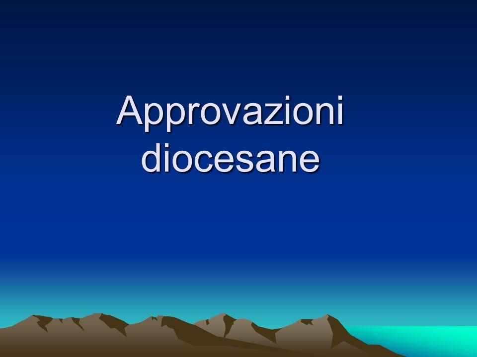 Approvazioni diocesane