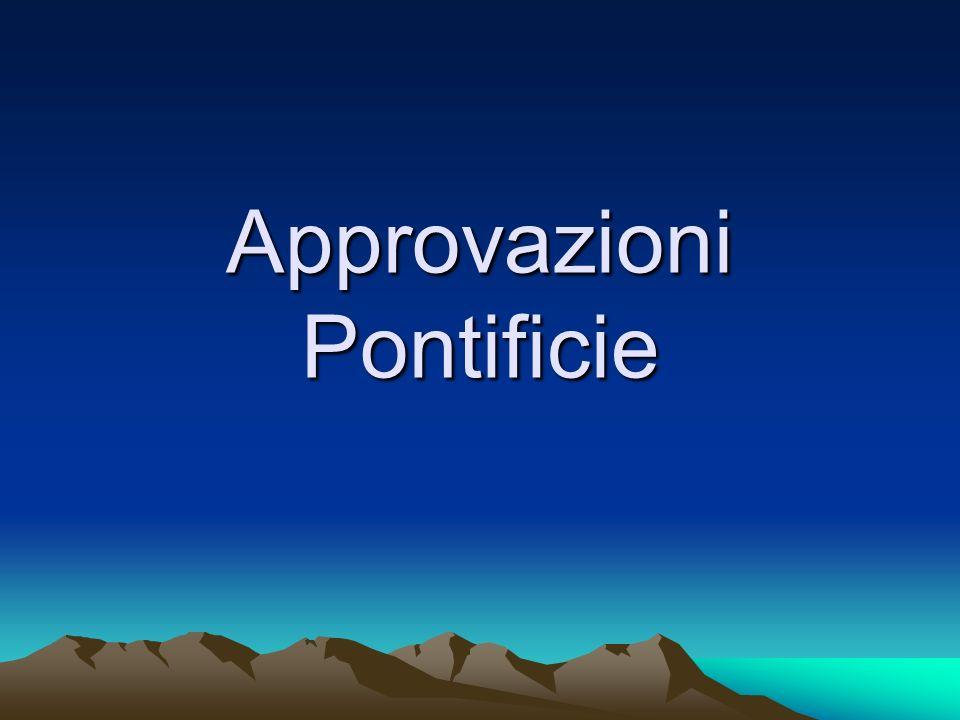 Approvazioni Pontificie
