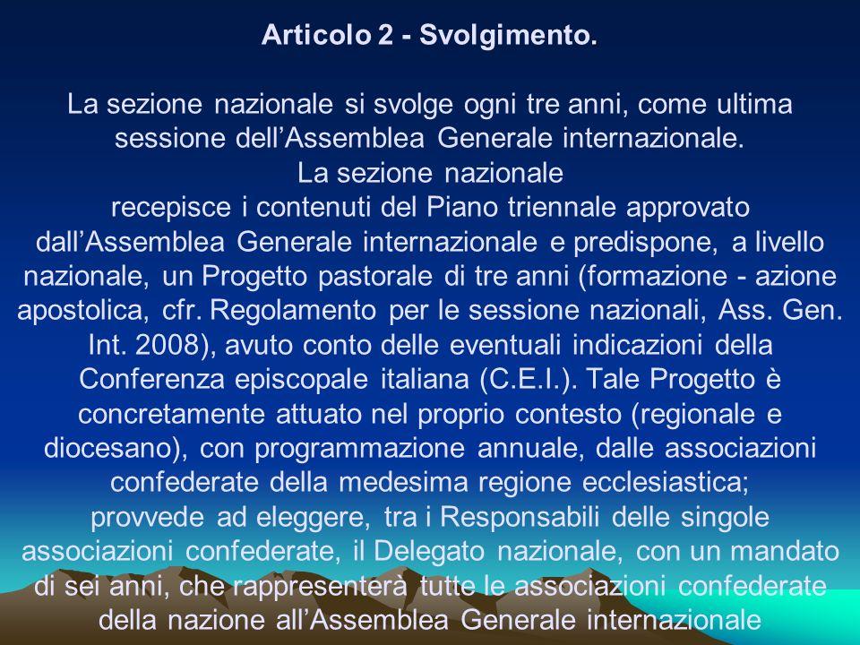 Articolo 2 - Svolgimento.