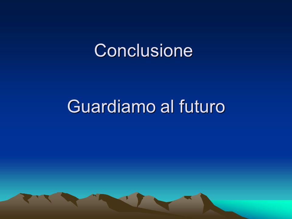 Conclusione Guardiamo al futuro