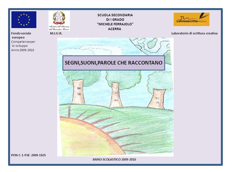 1 SCUOLA SECONDARIA DI I GRADO MICHELE FERRAJOLO ACERRA Fondo sociale M.I.U.R. Laboratorio di scrittura creativa europeo Competenze per lo sviluppo An