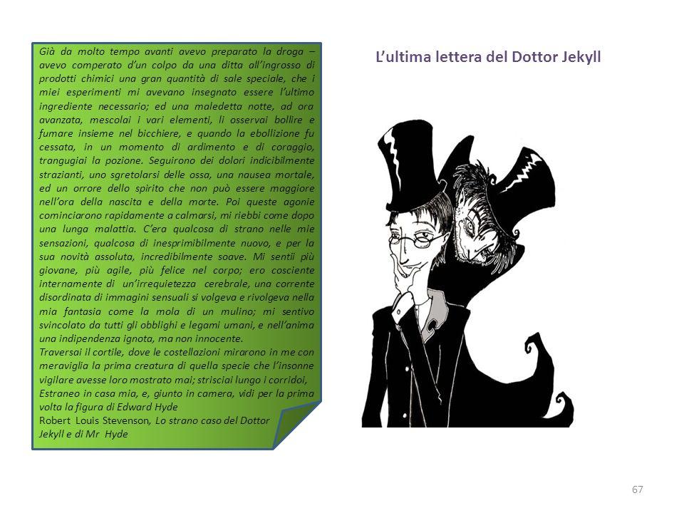Lultima lettera del Dottor Jekyll 67 Già da molto tempo avanti avevo preparato la droga – avevo comperato dun colpo da una ditta allingrosso di prodot