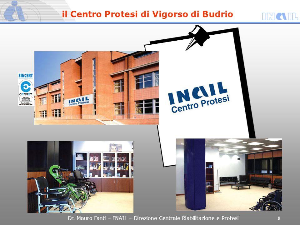 Dr. Mauro Fanti – INAIL – Direzione Centrale Riabilitazione e Protesi 8 il Centro Protesi di Vigorso di Budrio