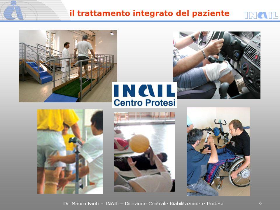 Dr. Mauro Fanti – INAIL – Direzione Centrale Riabilitazione e Protesi 9 il trattamento integrato del paziente