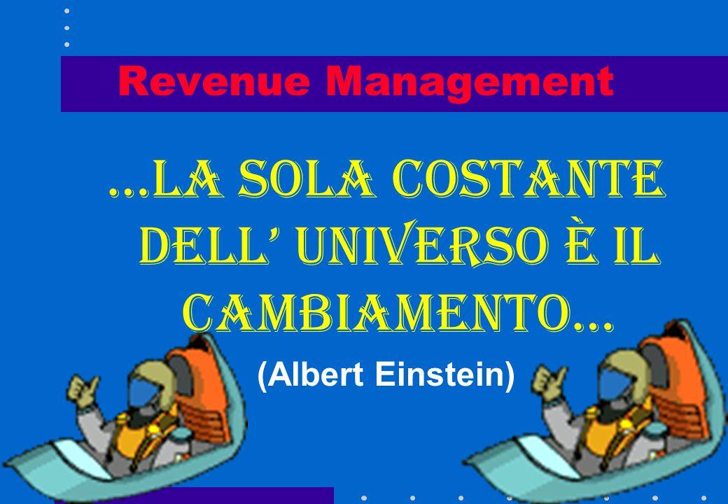Revenue Management …la sola costante dell universo è il cambiamento… (Albert Einstein)