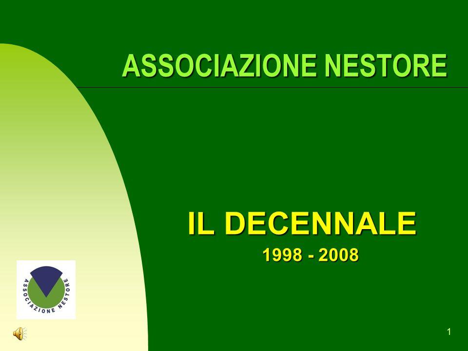 1 ASSOCIAZIONE NESTORE ASSOCIAZIONE NESTORE IL DECENNALE 1998 - 2008