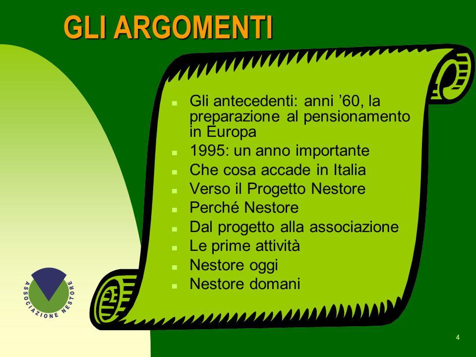 44 I LIBRI n DAL LAVORO AL PENSIONAMENTO, VISSUTI, PROGETTI, A.