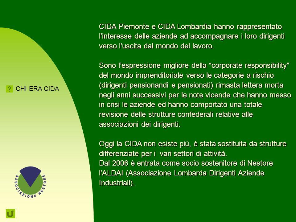 82 CIDA Confederazione italiana dei dirigenti e delle alte professionalità E l'organizzazione sindacale che rappresenta la dirigenza e le alte profess