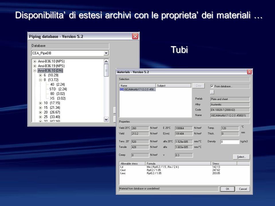 Semplice e completa personalizzazione dei documenti prodotti incluse le relazioni di calcolo …