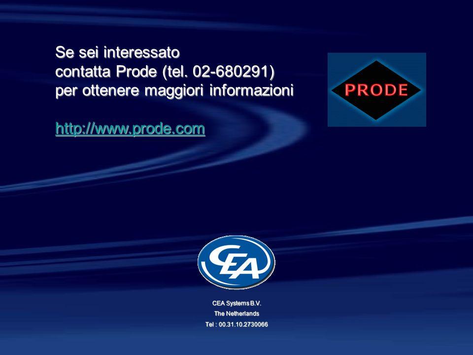 Se sei interessato contatta Prode (tel. 02-680291) per ottenere maggiori informazioni hhhh tttt tttt pppp :::: //// //// wwww wwww wwww.... pppp rrrr