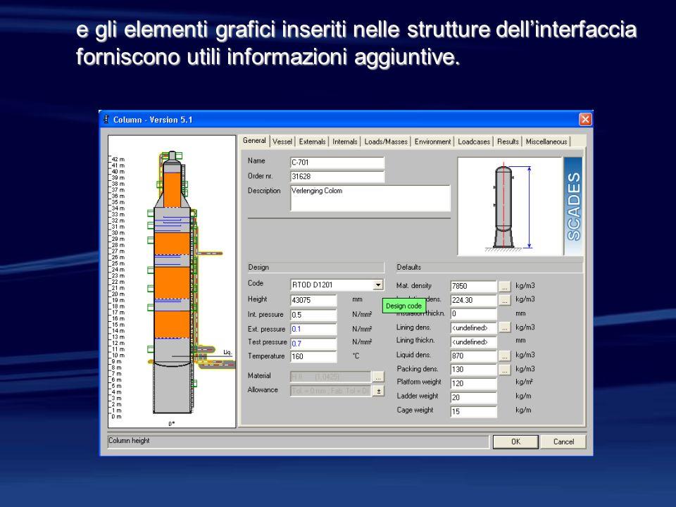 e gli elementi grafici inseriti nelle strutture dellinterfaccia forniscono utili informazioni aggiuntive.