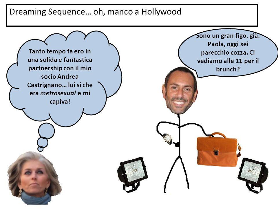 Dreaming Sequence… oh, manco a Hollywood Tanto tempo fa ero in una solida e fantastica partnership con il mio socio Andrea Castrignano… lui si che era